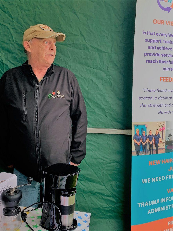 Keith Duck Volunteer at Calderwood House ex resident expert on Coffee