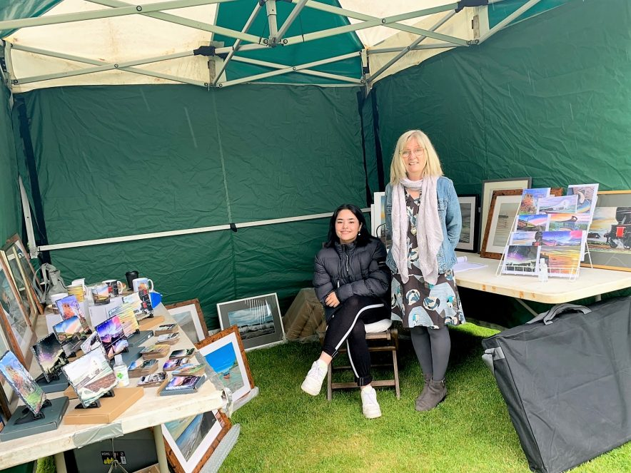 Lorraine and Leah Emma Hunt Artist Traders Market Whitehaven